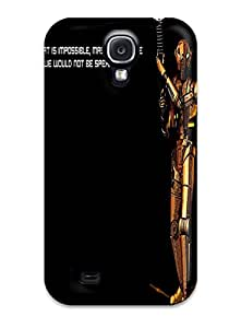 New Style DanRobertse Hard Case Cover For Galaxy S4- Star Wars Text Quotes Hk-
