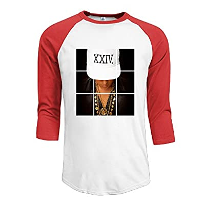 Mans Bruno Mars 24k Magic Cotton 3/4 Sleeve Raglan T-Shirt Red