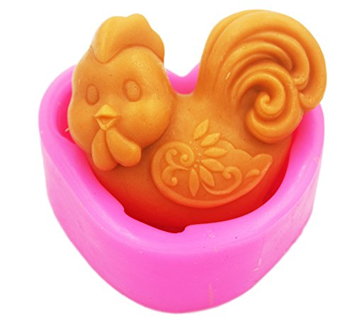 - Longzang Zodiac rooster S0240 Craft Art Silicone Soap mold Craft Molds DIY Handmade soap molds