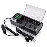 PALO LCD Display Universal Battery Charger with Discharge Function for AA AAA C
