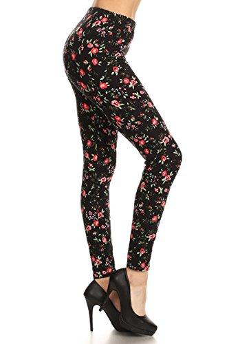 - 41iXNi8H30L - Print Leggings Red Rosebud (SLE-1072)