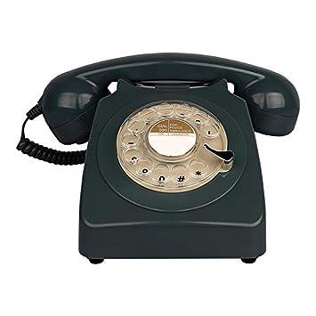 YuanElectronic Diseño rotatorio Teléfono Fijo Antiguo ...