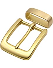 """Men's Center bar belt buckle Solid Brass Single Prong Belt Buckle 1 1/2"""" 38mm"""