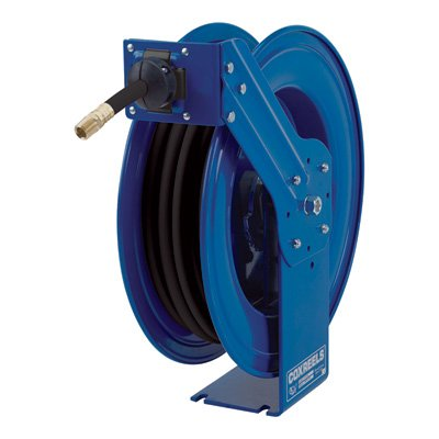 """Coxreels HP-N-350 Heavy Duty Spring Rewind Hose Reel for Grease/Hydraulic Oil: 3/8"""" I.D, 50' Hose, 5000 PSI"""