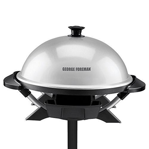 George Foreman GFO200S Indoor/Outdoor Electric Grill, Silver