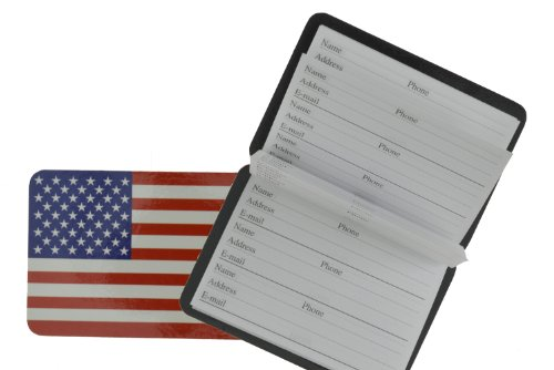 USA Flag Design Magnetic Credit Card Size Address ()