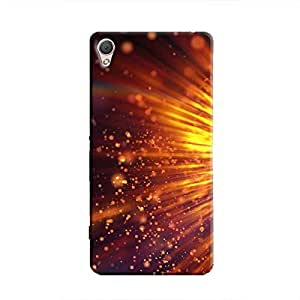 Cover It Up - Gold Exploding Xperia M4 Hard Case