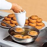 Qinhum Doughnut Maker Plastic Doughnut Mould Making Dispenser DIY Kitchen Baking Tool