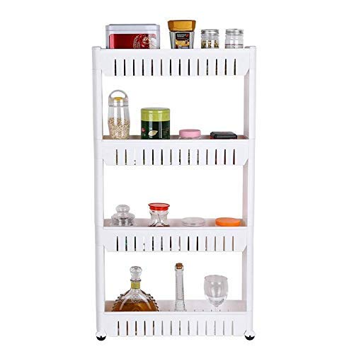 Ebee 4 Layer Storage Organizer Slim Rack Shelf with Wheels Price & Reviews