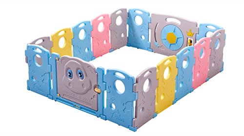 Ndotos Baby Playpen – 16 Panel Safety Playard – Tortoise and Hare, Educational Kids  ...