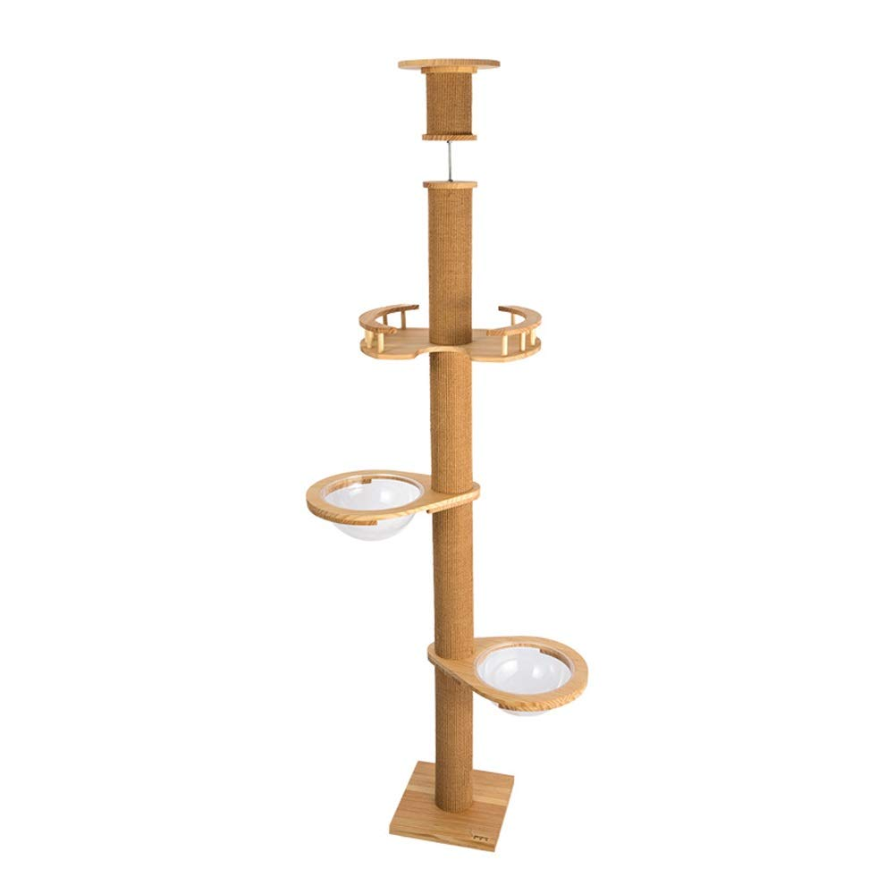 C Xuan Yuan Pine Wood cat Tree cat Climbing Frame Tongtianzhu Space Cup cat House pet Toy cat Toy3 Styles Optional Cat Tree (color   C)