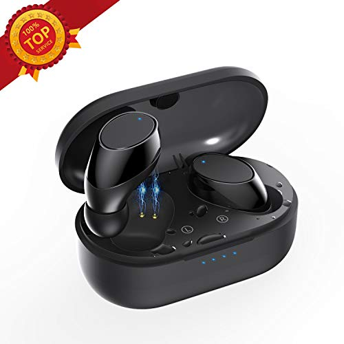 Bluetooth Headphones,5.0 True Wireless Earbuds Deep Bass HiFi Stereo Sound 15H Playtime Bluetooth Earphones in Ear Binaural Call Headset with Charging Case and Built in Mic for Sports Running