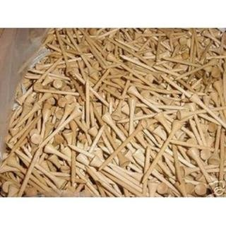 Golf Tees-Deluxe Wood - 2 3/4'' 10K - Natural by PrideSports (Image #1)