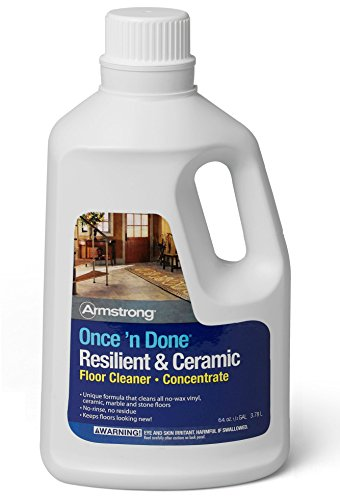 Armstrong Once 'N Done No-Rinse Floor Cleanr Concentrate, 64 oz (S-338)