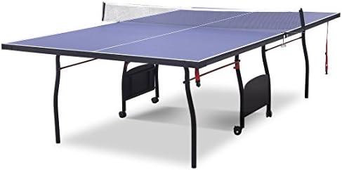 hlc Mesa de Ping Pong, Profesional Plegable y Movible con 9 Pies Formación Completa con Red, con Sistema Plegable con Ruedas: Amazon.es: Deportes y aire libre