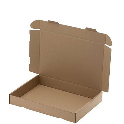 100 CAJAS DE ENVÍO MAXI 319 X 225 x 50mm DIN A4, embalaje ENVÍO Caja