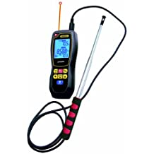 Data Logging Hot-Wire Anemometer with CFM/CMM and 8:1 IR Thermometer