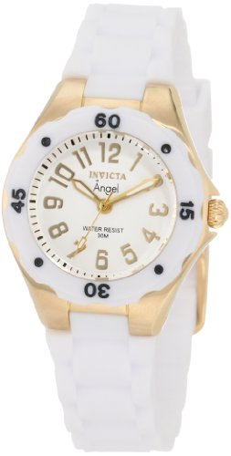 Invicta Women's 1628 Angel Collection Rubber Watch