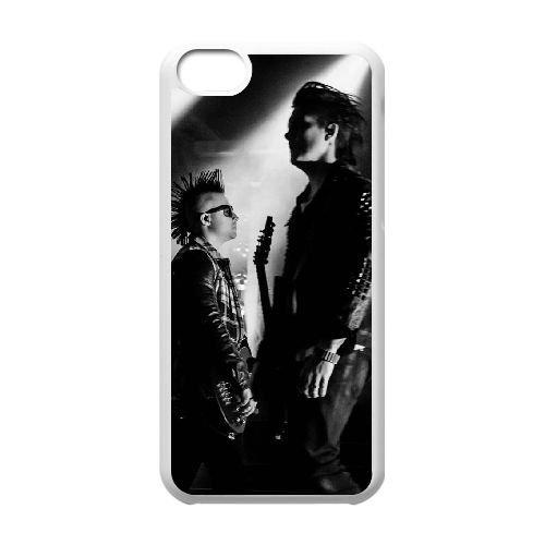 Avenged Sevenfold coque iPhone 5C Housse Blanc téléphone portable couverture de cas coque EBDOBCKCO12490