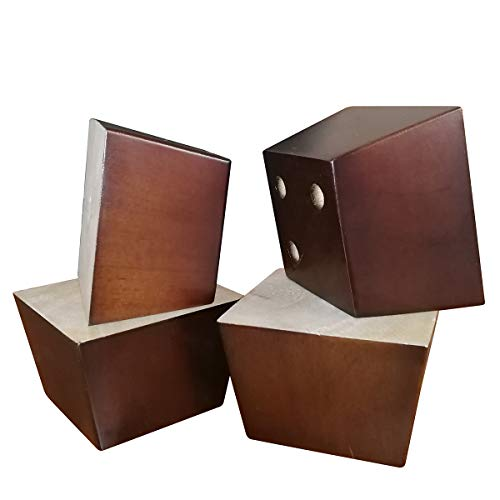 "Btibpse 2"" Wood Sofa Parts Hardwood Tapered Furniture Leg Square Pyramid for Sofa/Chair/Ottoman Set of 4 (2"")"