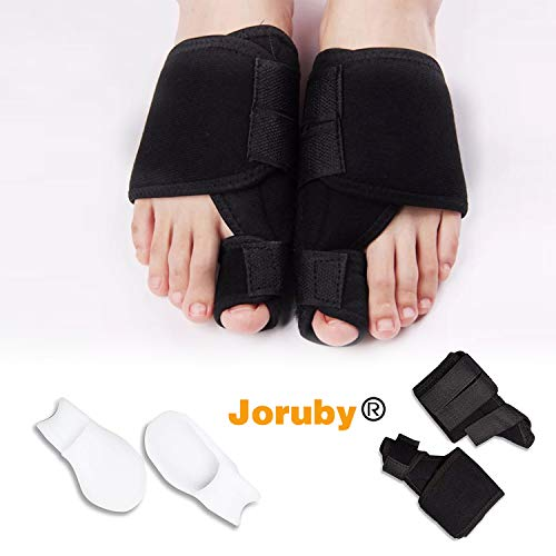 Joruby Bunion Corrector & Bunion Splints Bunion Relief Protector Sleeves Kit - Toe Straightener & Corrector Brace Pad for Hallux Valgus Pain Relief - Night Time Support for Men & Women by Joruby