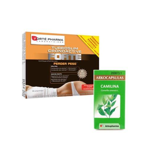 TurboSlim Cronoactive Forte Pharma 56 tablets + Arko Camilina 100 Capsules X' Mas Gift Skin Beauty Gift
