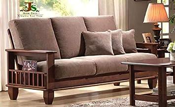 Js Home Decor Solid Rosewood And Sheesham Wood Sofa Set Walnut