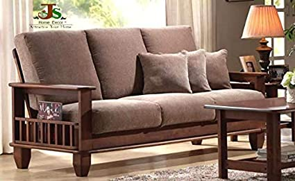 Js Home Decor Solid Rosewood And Sheesham Wood Sofa Set Walnut Brown