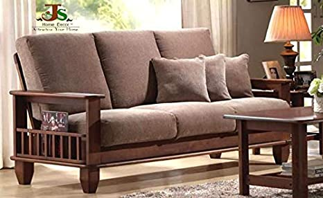 Js Home Décor Solid Rosewood And Sheesham Wood Sofa Set Walnut