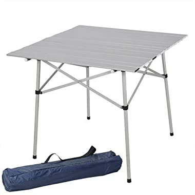 Best Choice Products® Aluminum Roll Up Table Folding Camping Outdoor Indoor Picnic Table Heavy Duty