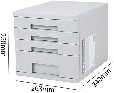 QFFL zhuomianshujia Carpeta Caja de Almacenamiento Material de PP Gabinetes para Archivos de Escritorio Tipo de cajón Archivador para archivadores Estante de Oficina (3 Colores, 4 Estilos) Estanteria: Amazon.es: Hogar