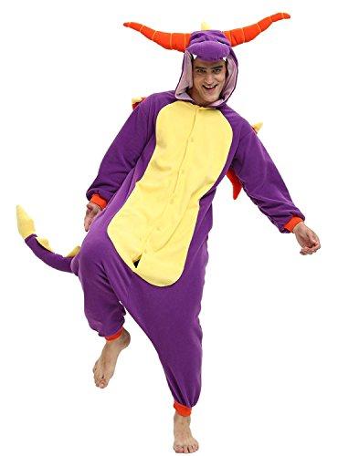 Zebra The Dragon Onesie Costume for Adults and Teenagers, Halloween Animal Kigurumi Pajamas - Dragon Reviews Model