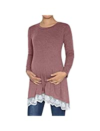 BIHSD Pregnancy Clothes for Women Nursing Tops Shirts Long Sleeve Breastfeeding Clothes