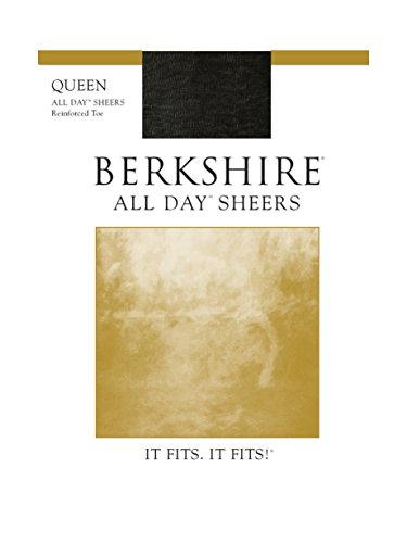Berkshire Women's Plus-Size Queen All Day Sheer Pantyhose 4404, Fantasy Black, (Day Sheer Pantyhose Hosiery)