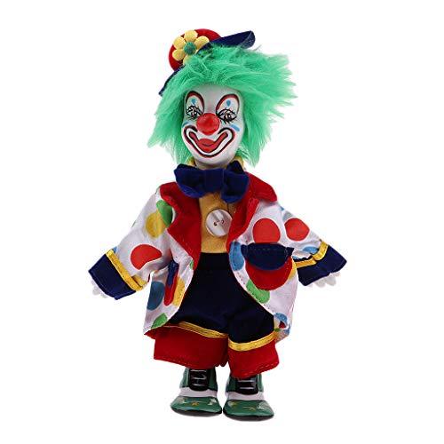 Prettyia Porcelain Clown Doll for Kids Birthday Gifts Halloween Christmas Decoration #4