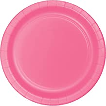 Creative Converting 240 Count Touch of Color Round Dessert Paper Plates, Candy Pink