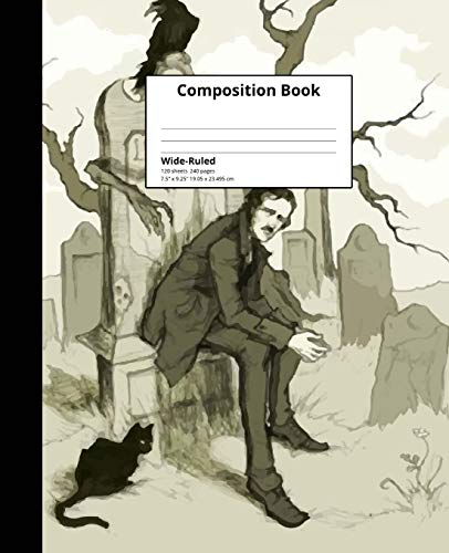 Composition Book Wide-Ruled: Edgar Allan Poe Composition Book 120 sheets, 240 pages Lined Pages Notebook ()
