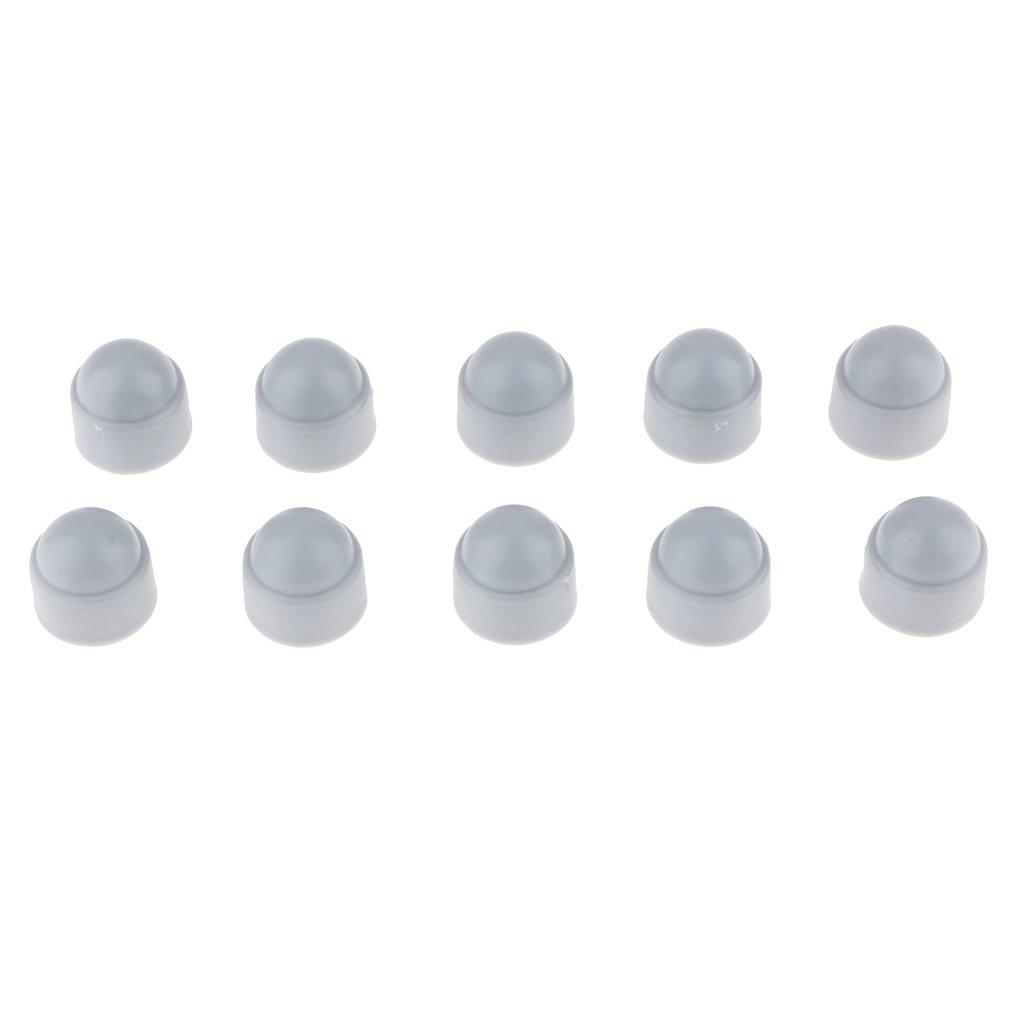 Grigio-m6 x 10mm Almencla 10 Piezas//Paquete M6 M8 M10 Tuercas De Protecci/ón Tuercas Cubierta Tornillo Hexagonal Pl/ástico Gris