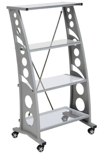 Price comparison product image Pitstop Furniture WS5000C Clear Chicane Bookshelf