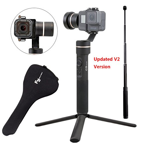 Feiyu G5 V2 Updated 3 Axis Handheld Gimbal for GoPro Hero 6 /5 /4 /3 /Session, Yi Cam 4K, AEE Action Cameras and Other Similar-Sized Action Cameras (Tripod and Extension Pole Included) by Feiyu