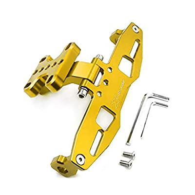 Motorcycle accessories Universal Fender Eliminator License Plate Holder For YAMAHA YZF-R1 R1 R3 R6 FZ1 FZ6 FZ8 XJ6 with LED Light-GOLD: Automotive
