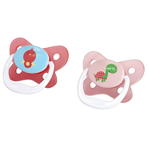 Dr. Browns Prevent Contour Pacifier, Stage 3 (12m+), Polka Dots Pink, 2-Pack