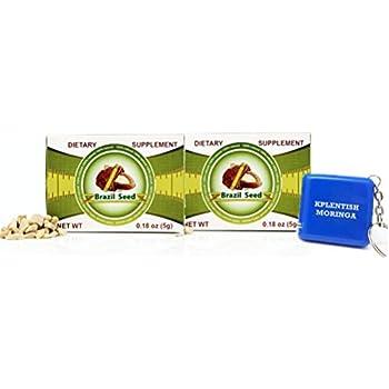 2 Pack Semilla de Brasil Brazil Seed Dietary Supplyment 60 Day Supply with Kplentish Moringa Measuring Tape 2 Meses de USO Autentica Semilla Fresca y Pura ...