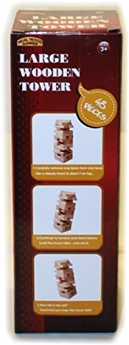 Forever Toys Large Wood Tower Game 48 pieces by Forever Toys
