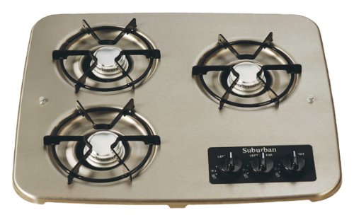 Suburban 2938ABK 3-Burner Black Cooktop by Suburban