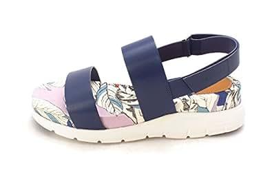 Cole Haan Womens Sandrasam Open Toe Casual Platform Sandals Blue Size 60