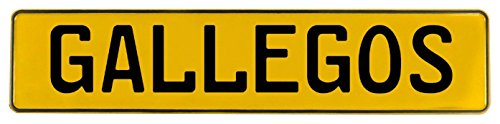 Vintage Parts 649797 Wall Art (Yellow Stamped Aluminum Street Sign Mancave Gallegos)