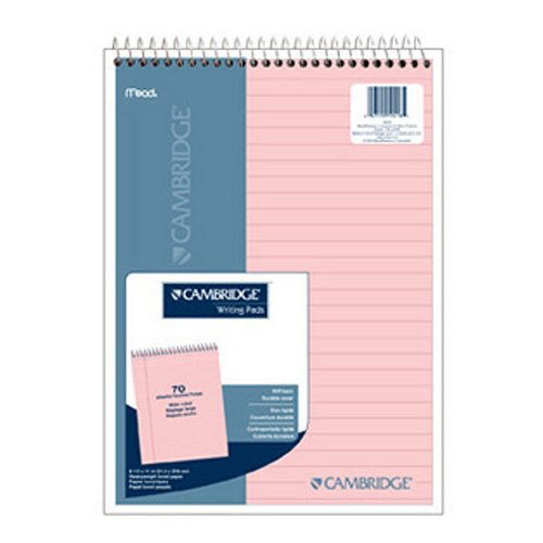 (Cambridge Wirebound Legal Pad, 8.5 X 11 Inches, Rose, 70 Sheets (59418))