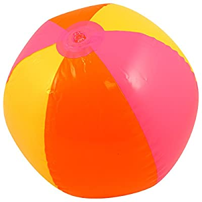 "Inflatable Beach Ball - 1 pc Rainbow 6-panel, 12"": Toys & Games"