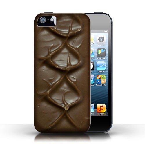 iCHOOSE Print Motif Coque de protection Case / Plastique manchon de telephone Coque pour Apple iPhone 5/5S / Collection Chocolat / Mars Bar